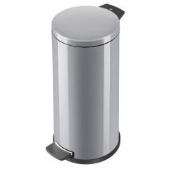 Hailo Solid L, silber, 18 Liter, Inneneimer: verzinkt, Tret-Abfallsammler