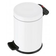 Hailo Solid S, weiß, 4 Liter, Inneneimer: Kunststoff, Tret-Kosmetikeimer