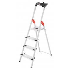 Hailo L80 ComfortLine, 4 Stufen, Stufenstehleiter