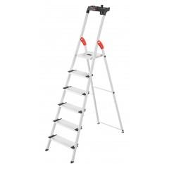 Hailo L80 ComfortLine, 6 Stufen, Stufenstehleiter