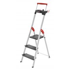 Hailo L100 TopLine, 3 Stufen, Stufenstehleiter