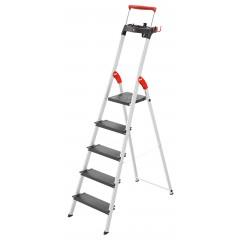 Hailo L100 TopLine, 5 Stufen, Stufenstehleiter