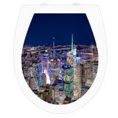 WC-Sitz Aufkleber Skyline New York