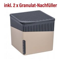 Wenko Raumentfeuchter Cube 1000 g beige mit Gratis-Nachfüller
