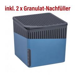 Wenko Raumentfeuchter Cube 500 g blau mit Gratis-Nachfüller