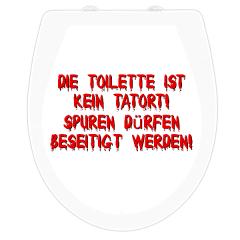 WC-Sitz Aufkleber Tatort Reinigen