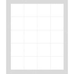 Fliesenaufkleber weiß, ca. 1 m²