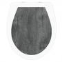 WC-Sitz Aufkleber Holz Eiche