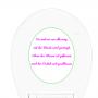 WC-Sitz Aufkleber Sprüche Bürste nehmen, Spülen und Toilettendeckel schließen in rosa