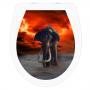 WC-Sitz Aufkleber Mammut