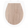 WC-Sitz Aufkleber Holz Buche Natur